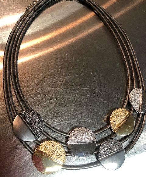 Gold & Silver Embellished Necklace
