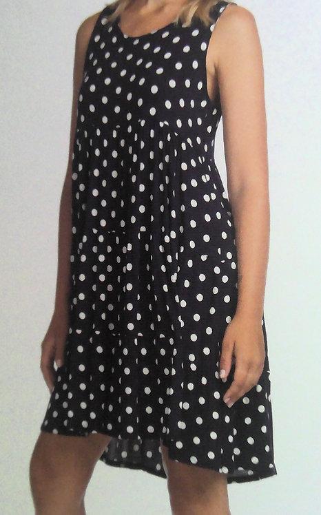 Polka Dot Black Stretch Dress