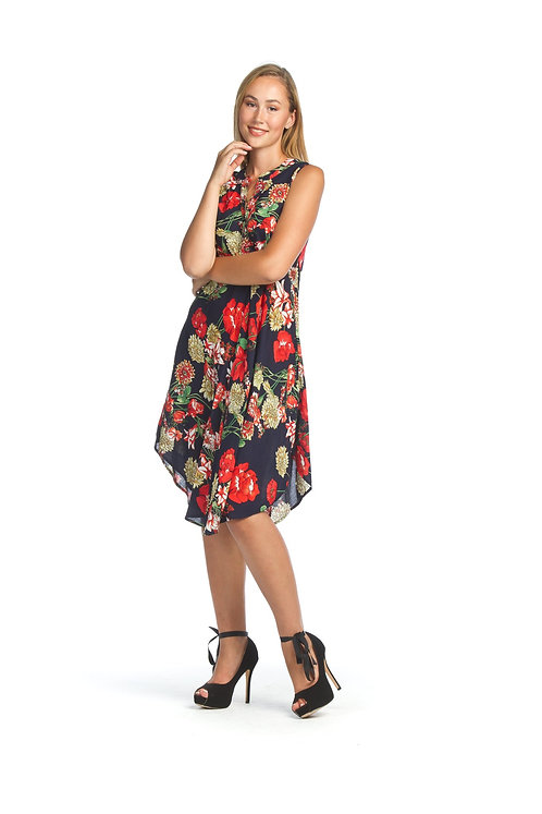 Tropical Aline Dress with Pockets