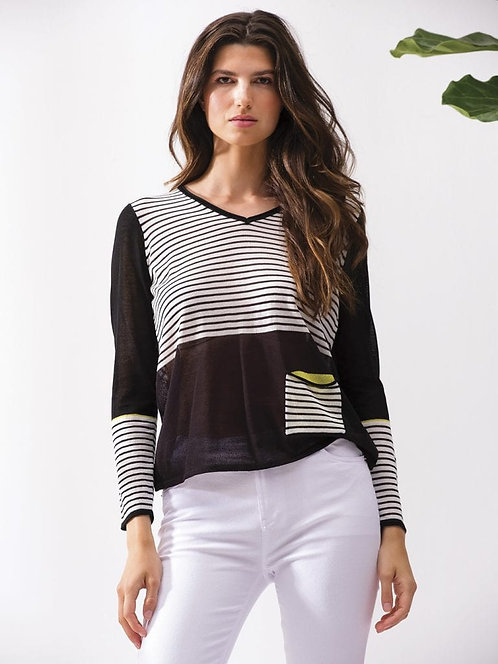 Black & Striped Luxury Sweater