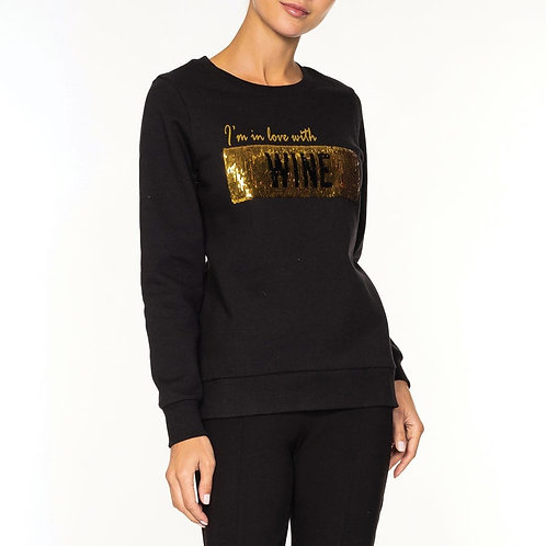 Sweat Shirt-  Swipe for...in love with Coffee