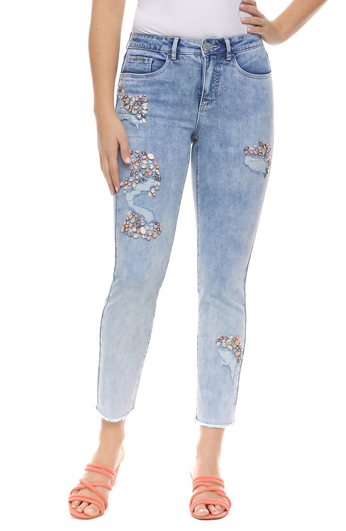 Cropped Olivia Jean with Bling