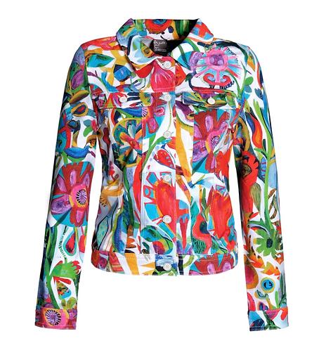 """""""Flower Heart"""" Jean Style Jacket"""