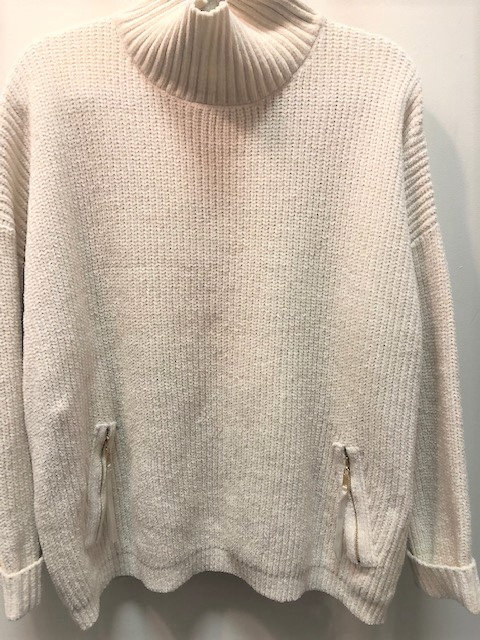 Velour Ribbed Sweater