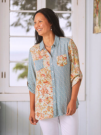 Patchwork Tunic Blouse