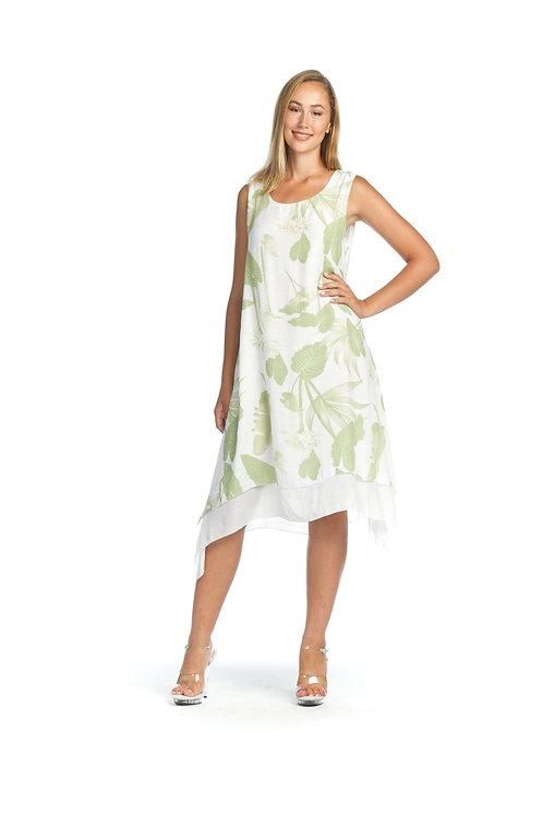 Leaf Print Layer Dress