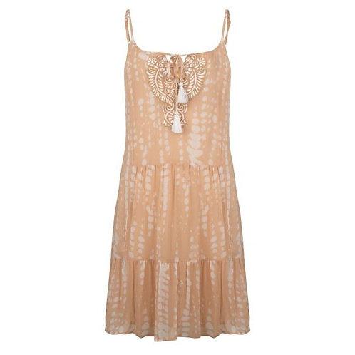 Beach Tye Dye Dress- Sand