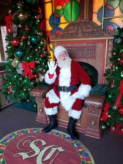 My friend Santa at Disney Springs
