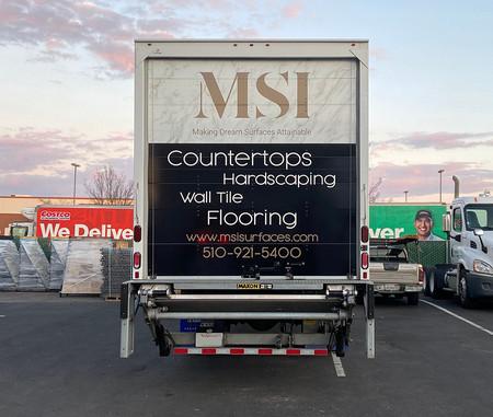 MSI Box Truck Back