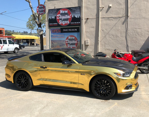 Gold Chrome Mustang