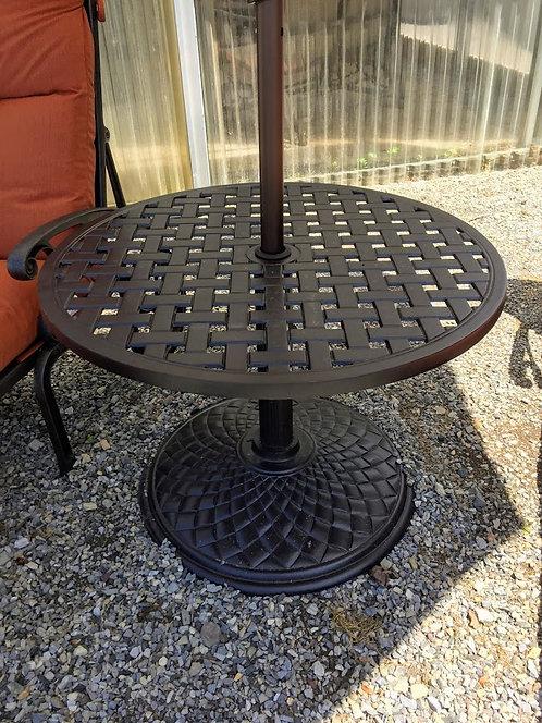 "30"" Round Umbrella Base Table #35502"