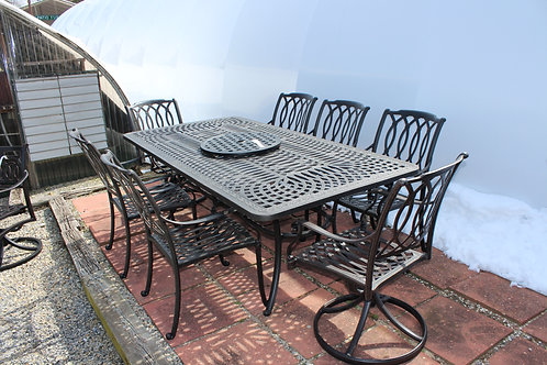 "7pc 84"" Rectangle Cast Dining (6 Seats) #34630"
