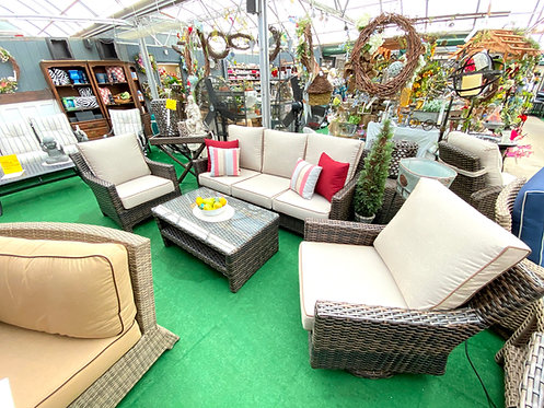 4pc Resin Wicker Seating #32272