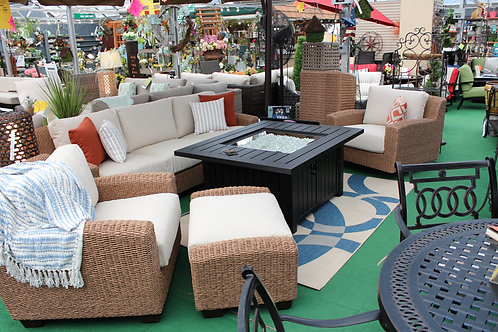 6pc Resin Wicker Seating #31613