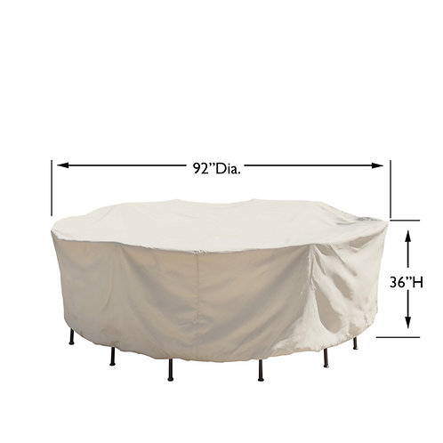 "54"" Round/Square Table & Chairs Cover: 92″W x 36""H"
