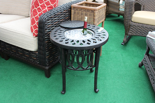 Round Ice Bucket End Table #35534