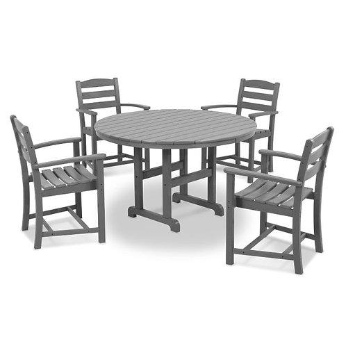 """La Casa Café 48"""" Round 5-Piece Dining Set"""