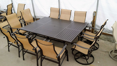 "11pc 84""x 60"" Rectangle Sling Dining #29137"