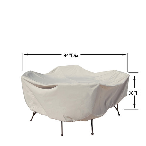 "48"" Round Firepit Cover: 84″W x 36""H"