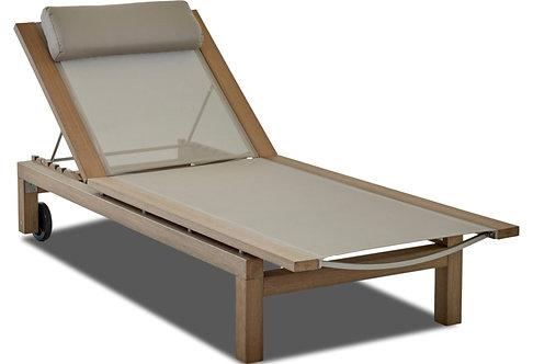 Faux Teak Sling Chaise Lounge #30765