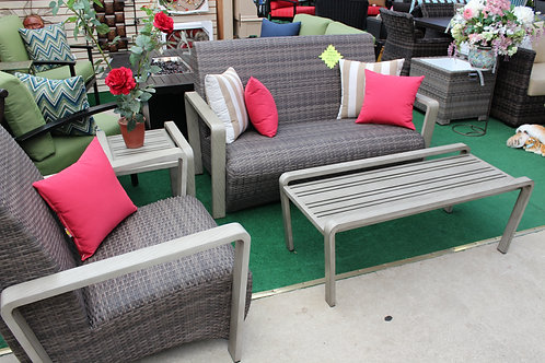 4pc Resin Wicker Seating Group #32548