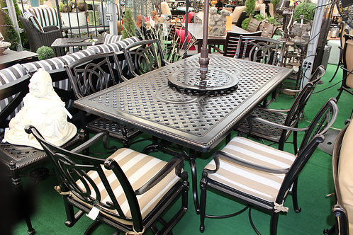 "72"" Rectangle Cast Aluminum Dining #39933"