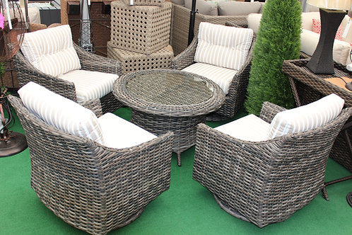 5pc Resin Wicker Seating Group #32679