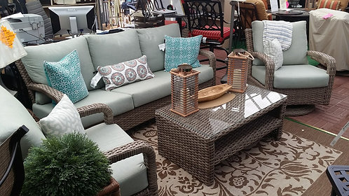 4pc Resin Wicker Seating Group #32216