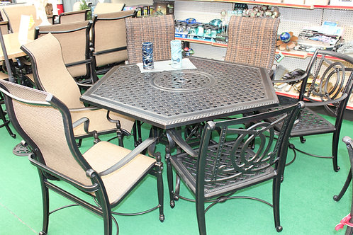 "61"" Hexagon Resin Wicker Dining #39967"