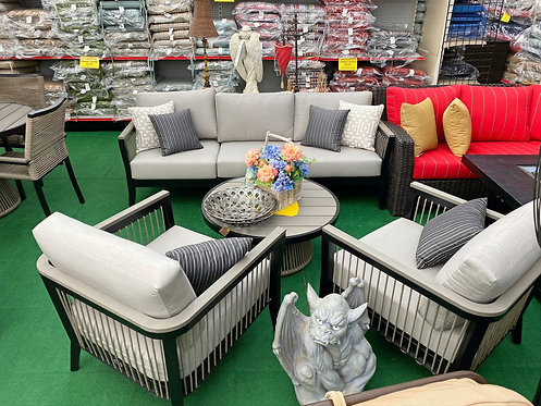 4pc Faux Teak & Aluminum Seating #32277
