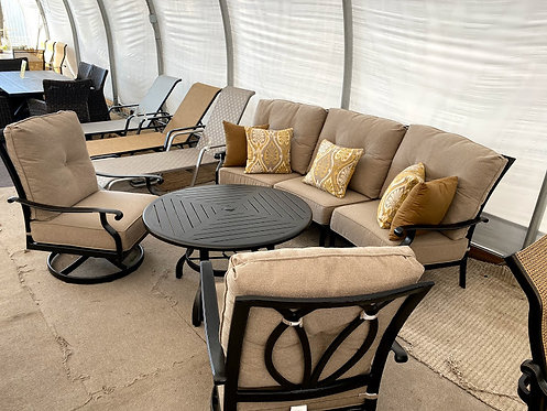 4pc Curved Aluminum Seating Group #29159