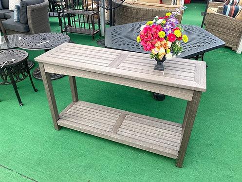 Faux Teak Sofa Serving Table #30801