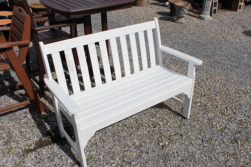 "48"" Polywood Bench (Color: White) #30985"