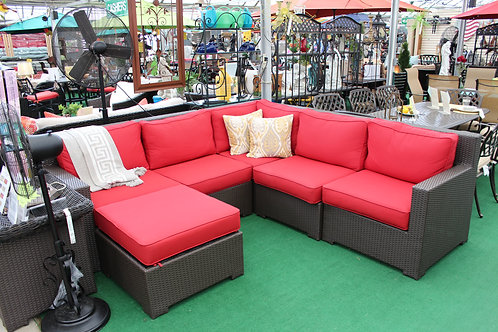 6pc Resin Wicker Sectional Seating #32698 (ORDER 2-4 Weeks)