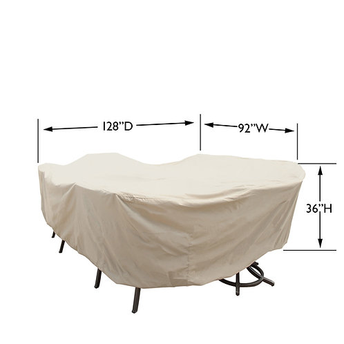 "XL Oval/Rectangle Table and Chairs Cover: 96″W x 180""D X 36""H"