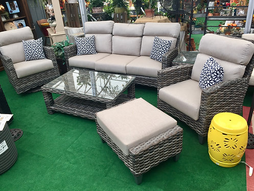 6pc Resin Wicker Seating #32684