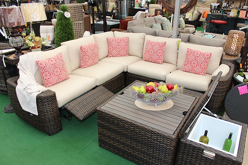 8pc Resin Wicker Recliner Sectional Seating #30769