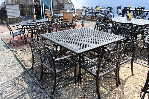 """60"""" Square Cast Aluminum Dining #39936"""