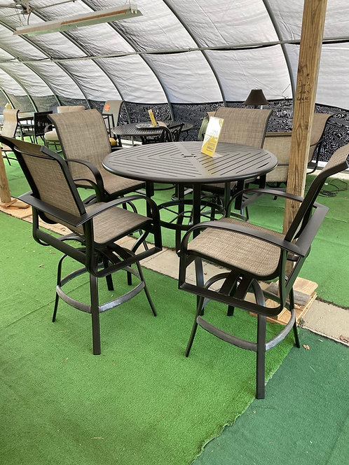 """5pc 48"""" Round Sling HIGH Dining #29079"""