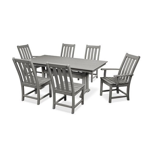 "Vineyard 7pc 72"" Rectangle Dining (Slate Grey Frame Color)"
