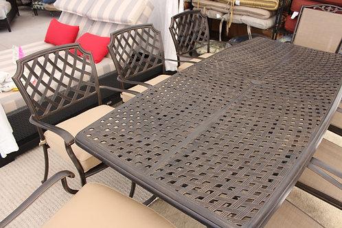 "84"" Rectangle Cast Aluminum Dining #32482"