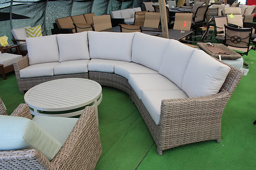 Resin Wicker Curved Sofa #32185