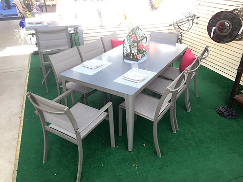 """9pc 79"""" Rectangle Sling Dining #30780"""