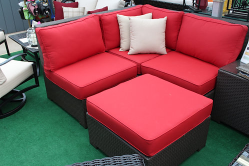 4pc Resin Wicker Sectional Daybed Seating #326980