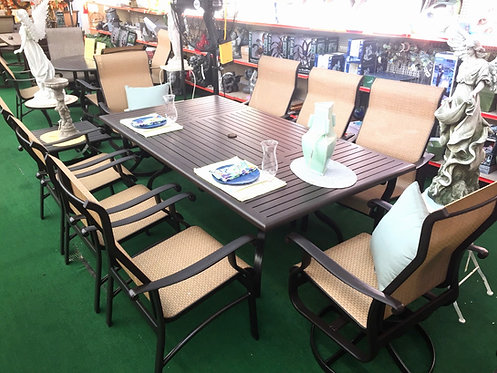 "9pc 84"" Rectangle Sling Dining #29136"