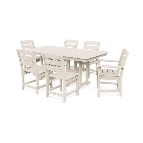 Lakeside 7pc Dining Set (Sand Frame Finish)