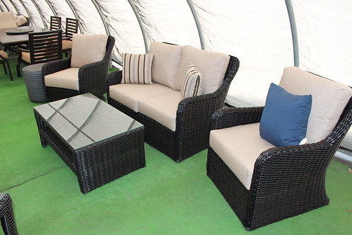 4pc Resin Wicker Seating #32049 (Order 4-6 Weeks)