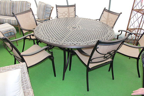 "60"" Round Sling Dining Group #34423"