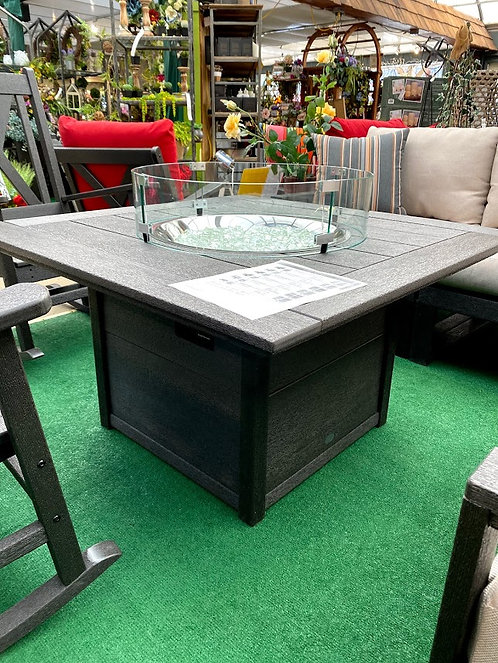 """POLYWOOD Square 42"""" Fire Pit Table"""