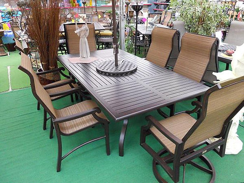 "7pc 84"" Rectangle Sling Dining Set #26843"